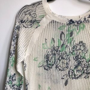 Frenchi Floral Print Sweater
